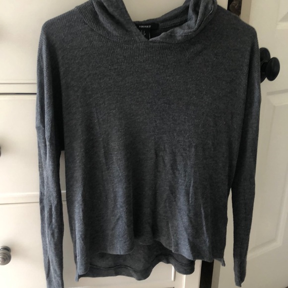 Forever 21 Tops - forever 21 ribbed thin hoodie